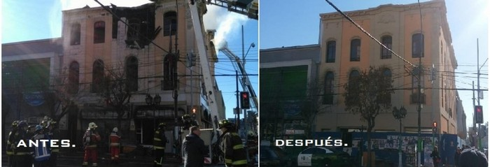 Reconstrucción y restauración de fachadas.